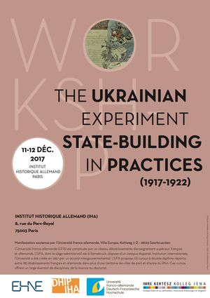workshop poster The Ukrainian Experiment